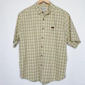 Carharrt Button Down Shirt Sleeve Shirt Plaid